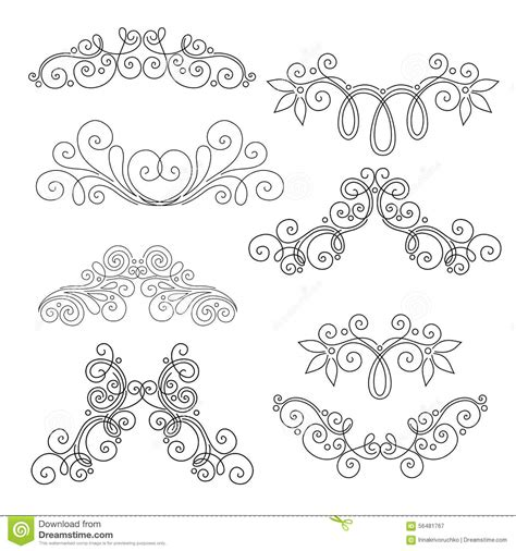 page design elements vector vector set of calligraphic design elements and page