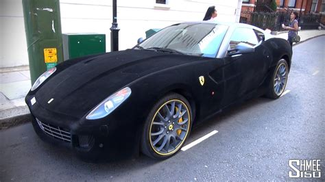 velvet ferrari furrari furry ferrari 599 with velvet wrap youtube