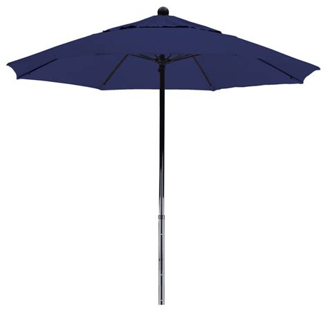 Outdoor Patio Umbrellas Sunbrella 7 5 Foot Sunbrella Fabric Fiberglass Frame Pulley Lift Patio Market Umbrella Contemporary