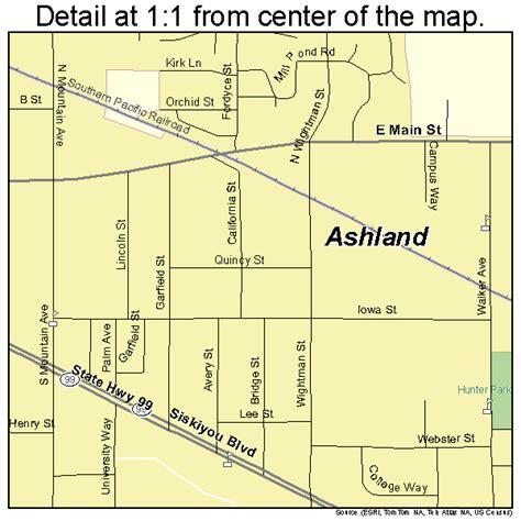 where is ashland oregon on a map ashland oregon map 4103050