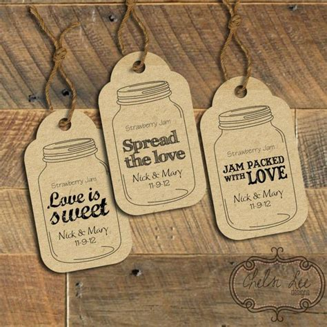 printable mason jar labels wedding wedding favor labels three customized ready to print