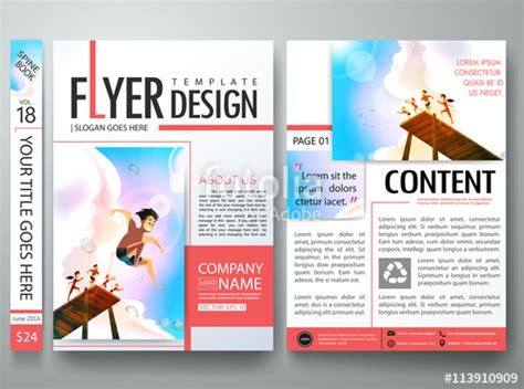 magazine layout vector free quot brochure design template vector business flyers report