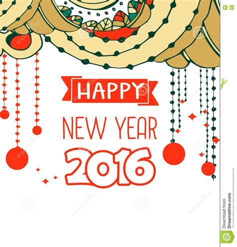free new year card template 2016 happy new year 2016 celebration background stock vector