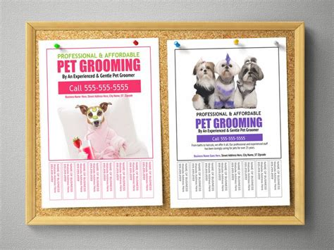 99 best groomers advertising templates ideas images on