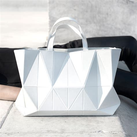 Fashion Bag Rice White 21346 neonscope origami handbags by finell