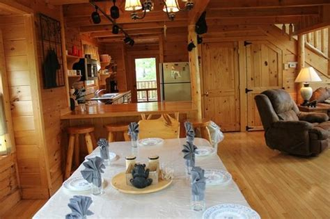 S Cove Log Cabin Rentals by Kitchen As Seen From Dining Room Picture Of S