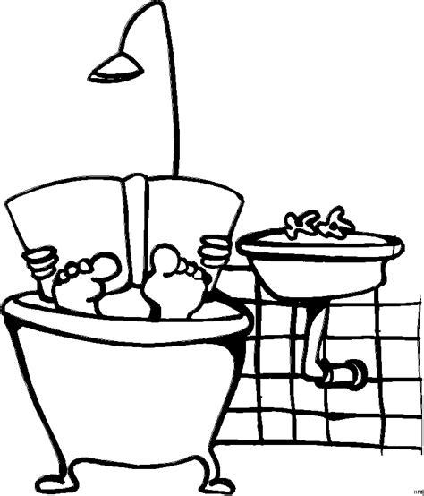 badewanne comic in der badewanne lesen ausmalbild malvorlage comics