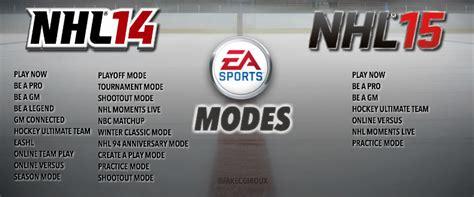 nhl 15 next gen vs current gen graphics comparison hd nhl 14 vs nhl 15 next gen game modes ea nhl
