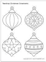 printable christmas ornament templates christmas tree