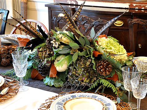 Pheasant Decor by Serendipity Refined Thanksgiving Table Decor