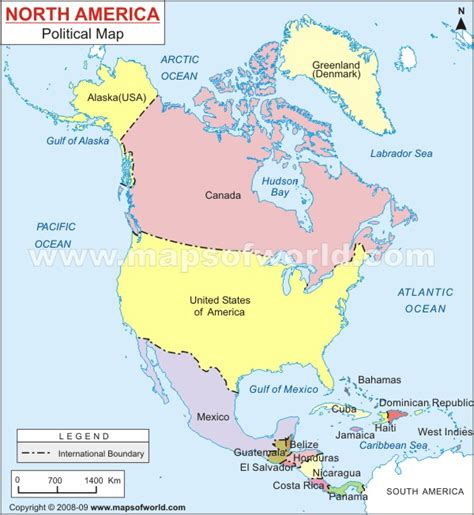 america map showing countries americas america gkquizzitive