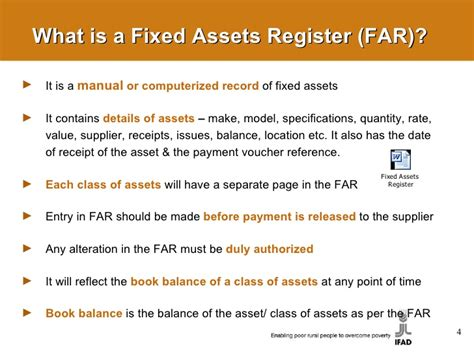 fixed assets management and control