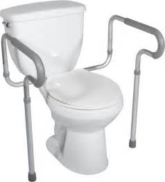 Toilet Seat Handrails Toilet Safety Frame With Padded Arms Drive Medical