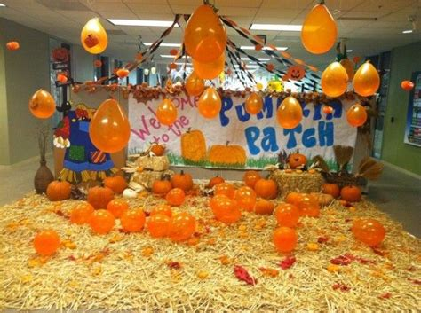 halloween themes at work decoration pumpkins patch themed halloween office