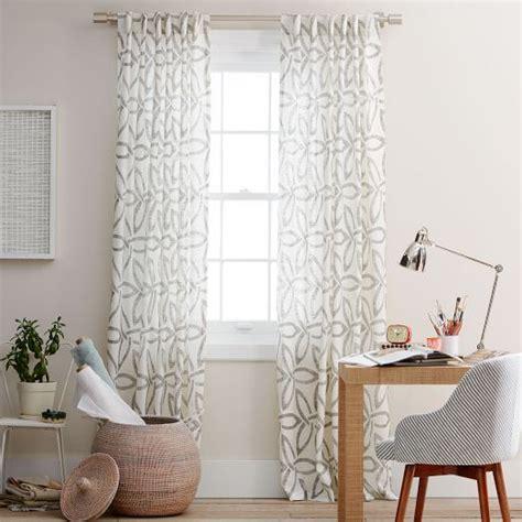 west elm linen curtains pinwheel linen curtain stone white slate west elm
