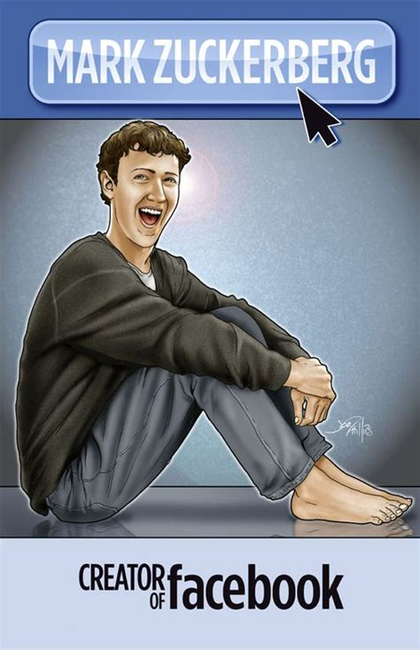 biography book on mark zuckerberg barefoot mark zuckerberg on comic book cover