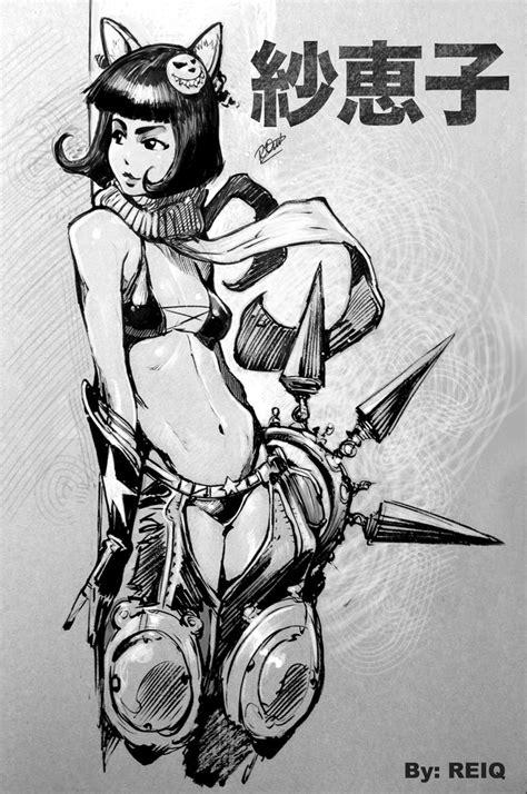 sketchbook reiq saeko by reiq on deviantart