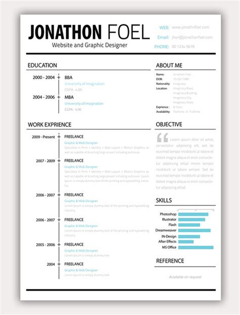 free elementary resume templates 11 free psd html resume templates web graphic design