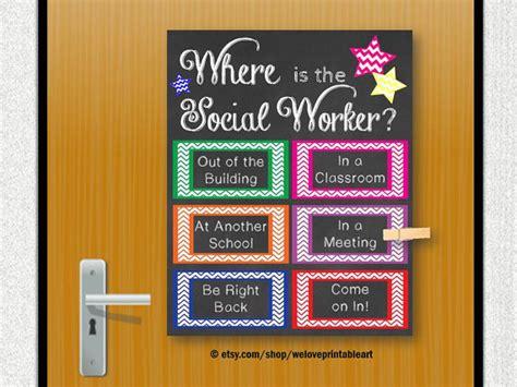 office door signs templates school social worker gift social work door decoration