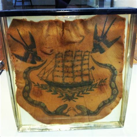 tattoo preservation preserved chest from the 1800s at the surgeons
