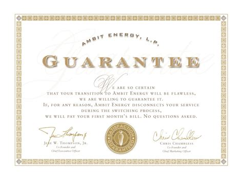 Guarantee Card Template by Lower Electric Bill Save Money On Your Electric And