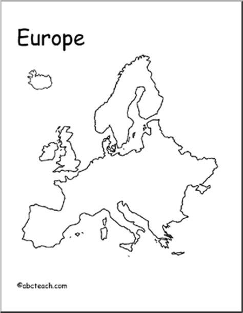 map europe outline abcteach