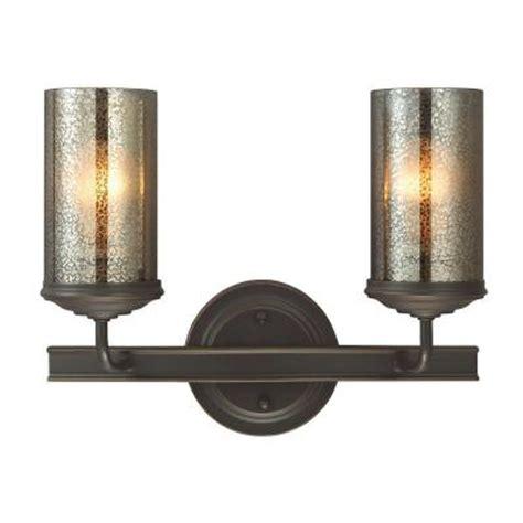 mercury glass vanity light sea gull lighting sfera 2 light autumn bronze wall bath