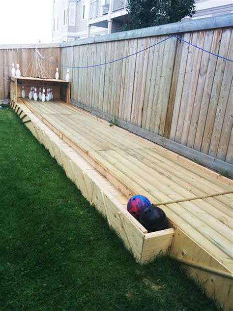 Backyard Bowling Alley by How To Make A Backyard Bowling Alley Iseeidoimake