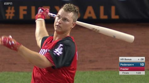 joc pedersons hairstyle steps joc pederson finishes second in home run derby mlb com