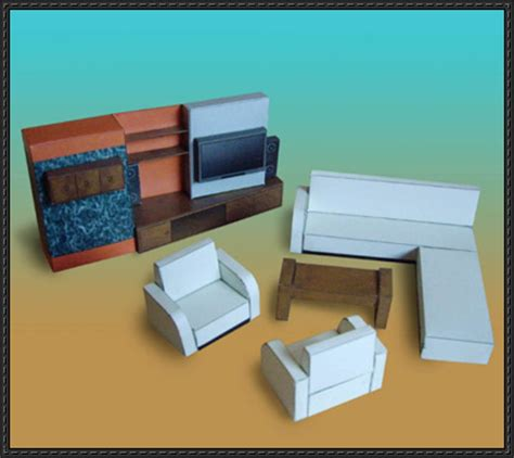 paper craft furniture furniture papercraftsquare free papercraft