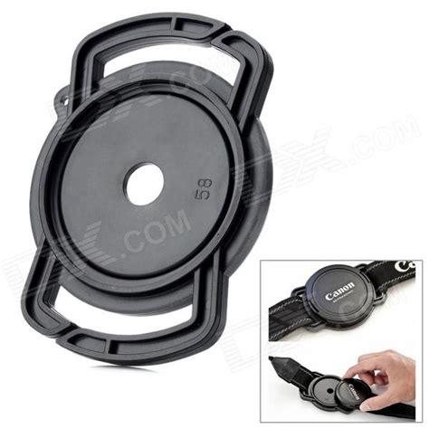 Lens Cap Keeper Buckle Ukuran 52 58 Dan 67mm universal 52 58 67mm lens cap holder buckle for cameras black free shipping dealextreme