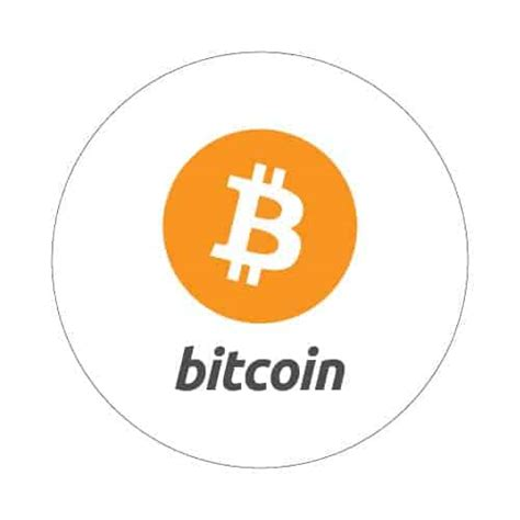 bitcoin btc bitcoin with logo round sticker 35mm bitstickers