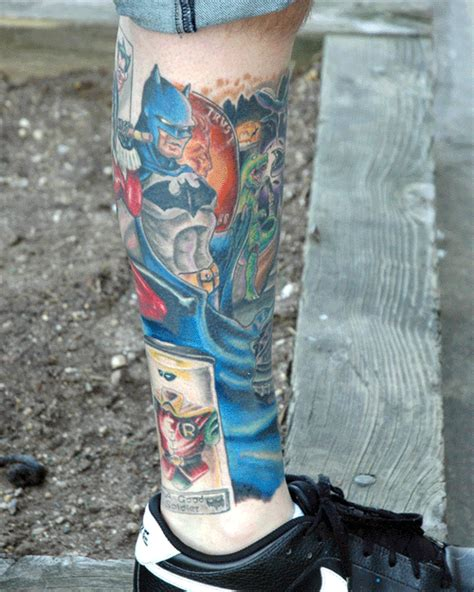 Batman Tattoo Scene | batman scene tattoo imghumour