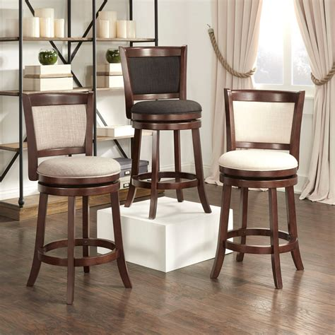 Bar Stools 27 Inches High by Verona Panel Back Linen Swivel 24 Inch High Back Counter