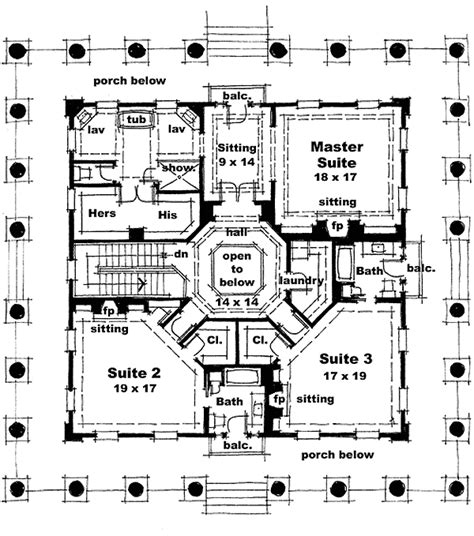 greek revival floor plans classic greek revival with fly by 44042td 1st floor