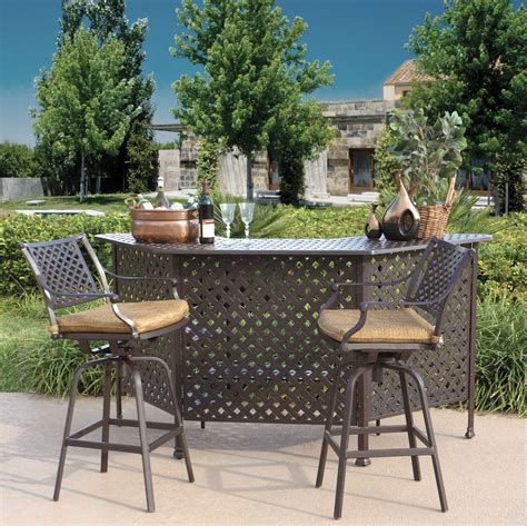 outdoor setting charleston outdoor patio bar set hot tubs and pool