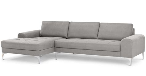 Cheap Fabric Sofas Vittorio Left Hand Facing Corner Sofa Group In Pearl Grey