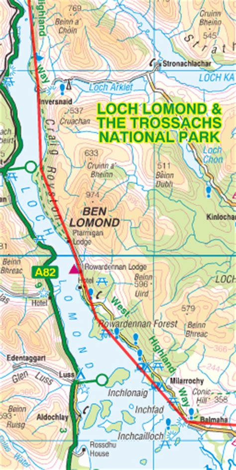 west highland way map booklet 1 25 000 os route mapping books a walk along the west highland way
