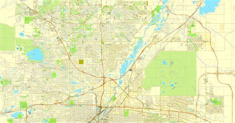 map of colorado vector vector map denver colorado us citiplan simple 3mx3m ai pdf good cs6 14