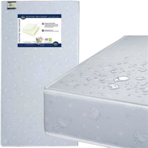 comfortable crib mattress serta nightstar firm comfort crib and toddler mattress a