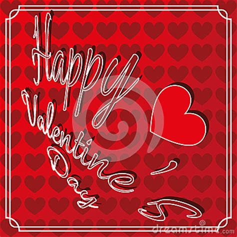 happy valentines day fancy writing happy s day greeting card stock vector image