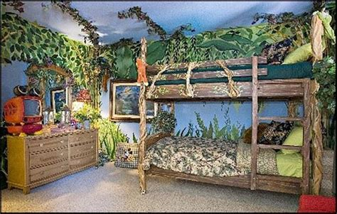 Rainforest Bedroom | 20 jungle themed bedroom for kids rilane