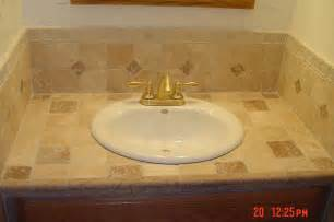 Bathroom Vanity Tile Ideas as you can see tiling over an existing laminate vanity top is a lot