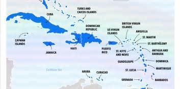islands map best caribbean islands chart business insider