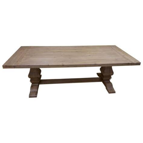 rectangular pedestal dining table donny osmond home florence rectangular pedestal