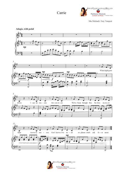 carrie testo partituras musicais carrie europe piano n 186 854