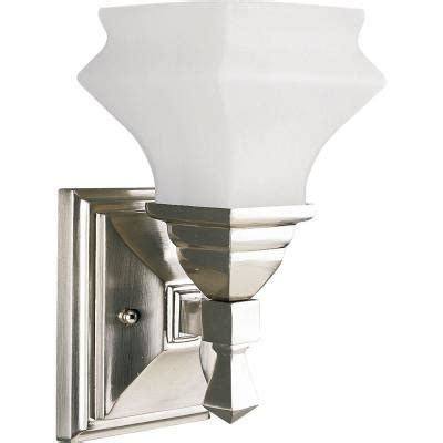 Discontinued Light Fixtures Progress Lighting Bratenahl Collection Brushed Nickel 1 Light Vanity Fixture Discontinued P3295