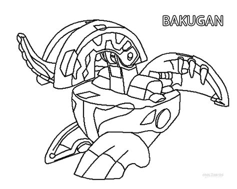 Printable Bakugan Coloring Pages For Cool2bkids