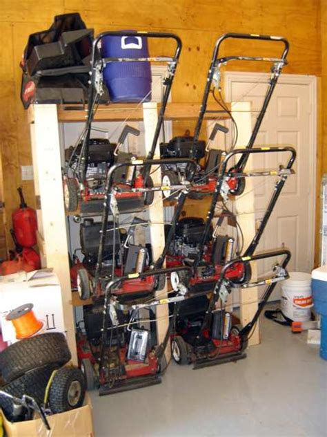 Garage Storage For Lawn Mower My Quot Lawn Mower Ladder Quot Mower Storage Lawnsite