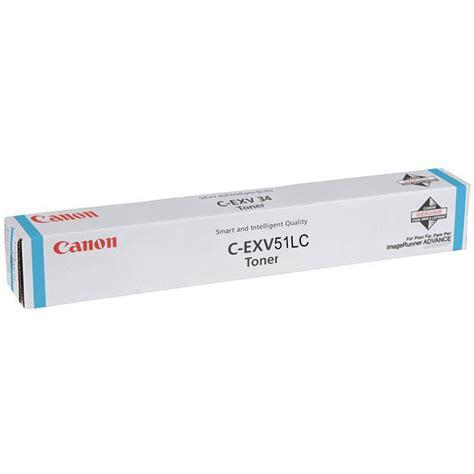Toner Canon Irc Cyan original canon c exv51lc cyan toner cartridge 0485c002